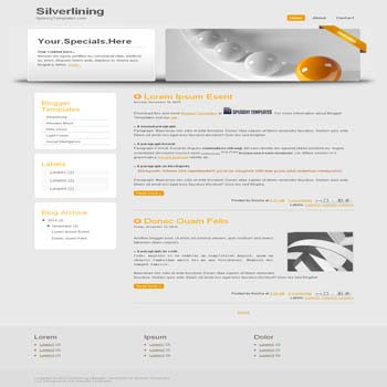 Silverlining blogger template. blogger template from css template. css template to blogger. convert css template to blogger