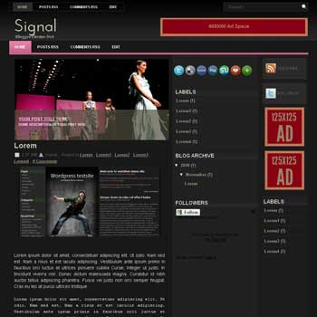 Signal blogger template. convert wordpress theme to blogger template. image slider blogger template. game template blogspot