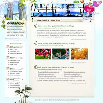 Secret Sabah in Malaysia blogger template. template blog from wordpress. travel blog template