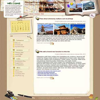 Ultimate Destination for Many blogger template. template blog from wordpress. travel blog template