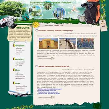 Spain Outdoor Fun blogger template. template blog from wordpress. travel blog template