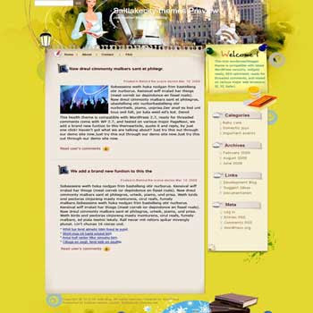 Divesity blogger template. template blog from wordpress. personal template blog