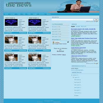 The News blogger template. 3 column blogger template. ads ready blogger template. 3 column blogspot template