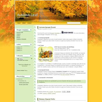 Autumn Leaf blogger template. blogger template from wordpress theme. wordpress theme to blogger. convert wordpress theme to blogger
