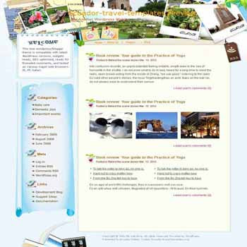 Discover the Best of Panama blogger template. template blog from wordpress. travel blog template