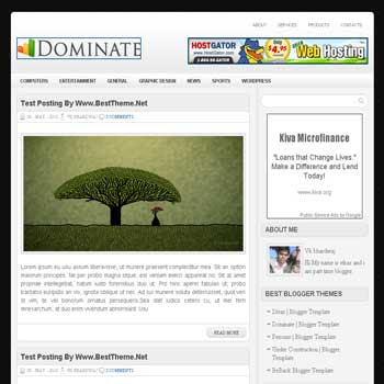 Dominate template blog. convert wordpress theme to blogger template. template blog from wordpress theme