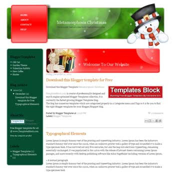 Metamorphosis Christmas blogger template converted from wordpress theme to blogger. Christmas template blogger