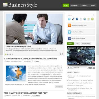 Business Style blogger template. pagination for blogger ready. magazine style template blog. image slider template blog