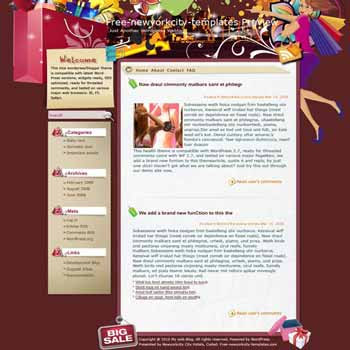 Shoppers Dream blogger template. template blog from wordpress. online shop blog template