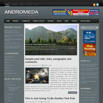 Andromeda blogger template. pagination for blogger ready. magazine style template blog. image slider template blog