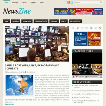 NewsZine blogger template. pagination for blogger ready. magazine style template blog. image slider template blog