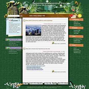 Dream Garden blogger template. template blog from wordpress