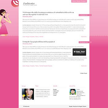 Fashionise blogger template. blogger template converted from wordpress theme. blogspot template from wordpress theme