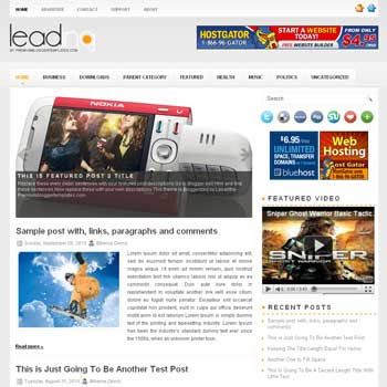 Leading blogger template. pagination for blogger ready. magazine style template blog. image slider template blog