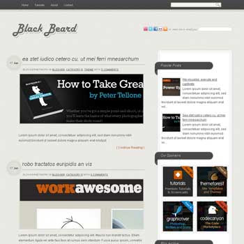 Blackbeard blogger template. minimalist blogger template. convert wordpress to blogger template. 3 column blogger template