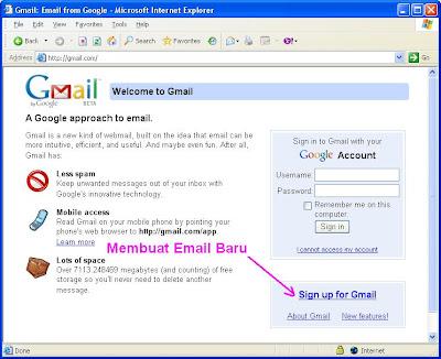 Membuat email