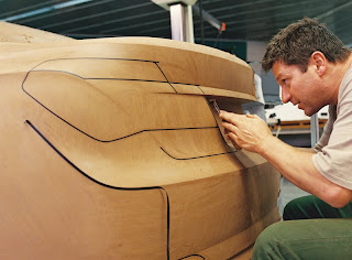 BMW Designer working on new 7-series clay model