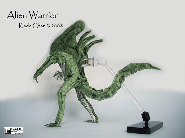 kade chan origami blog 香港摺紙工作室 日誌 alien warrior