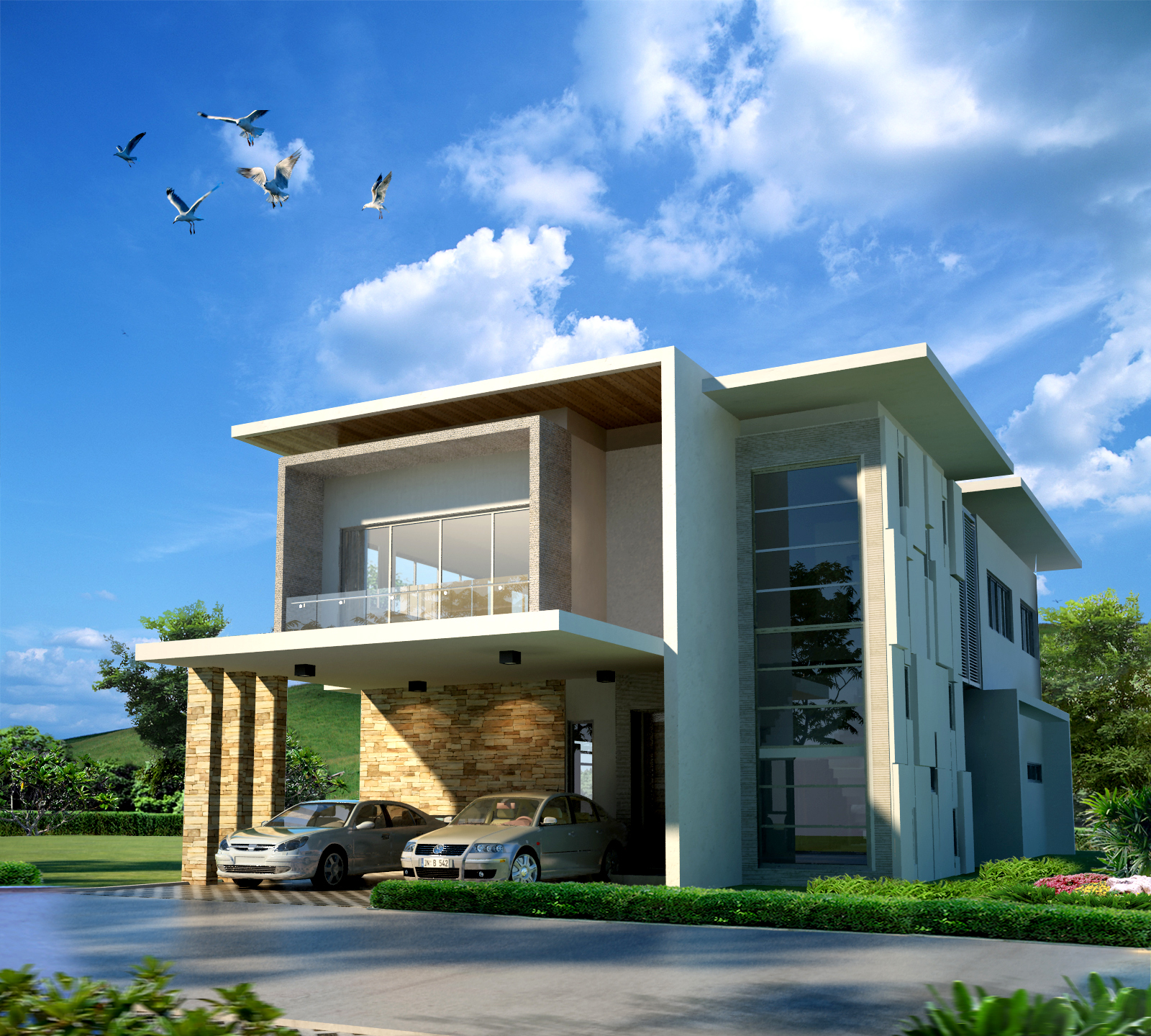 Modern modern house design in malaysia bungalow designs for Bungalow home designs plans