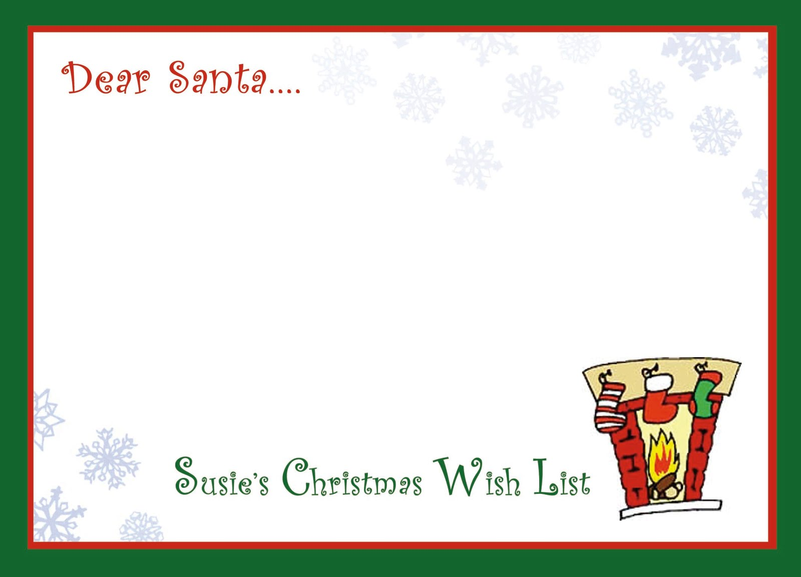 Cml Designs Blog LetS Write A Letter To Santa