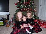 Girls in their Christmas dresses