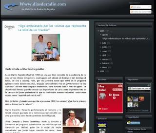 martinexposito, la rosa de los vientos, rosavientos, entrevista, diasderadio.com, verano 2009, mes de agosto, novedades, descargas, podcast, audios
