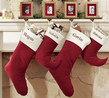 Stockings Right Now We Have A Hodge Podge Of Sorry Socks For Our Kids These From Pottery Barn Are Classic And I Would Love Something To Monogrammed