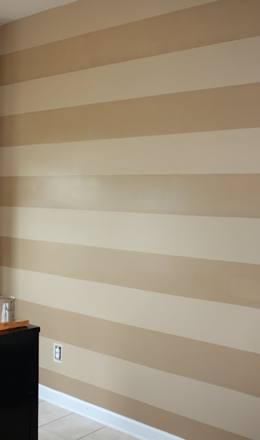tan striped wall