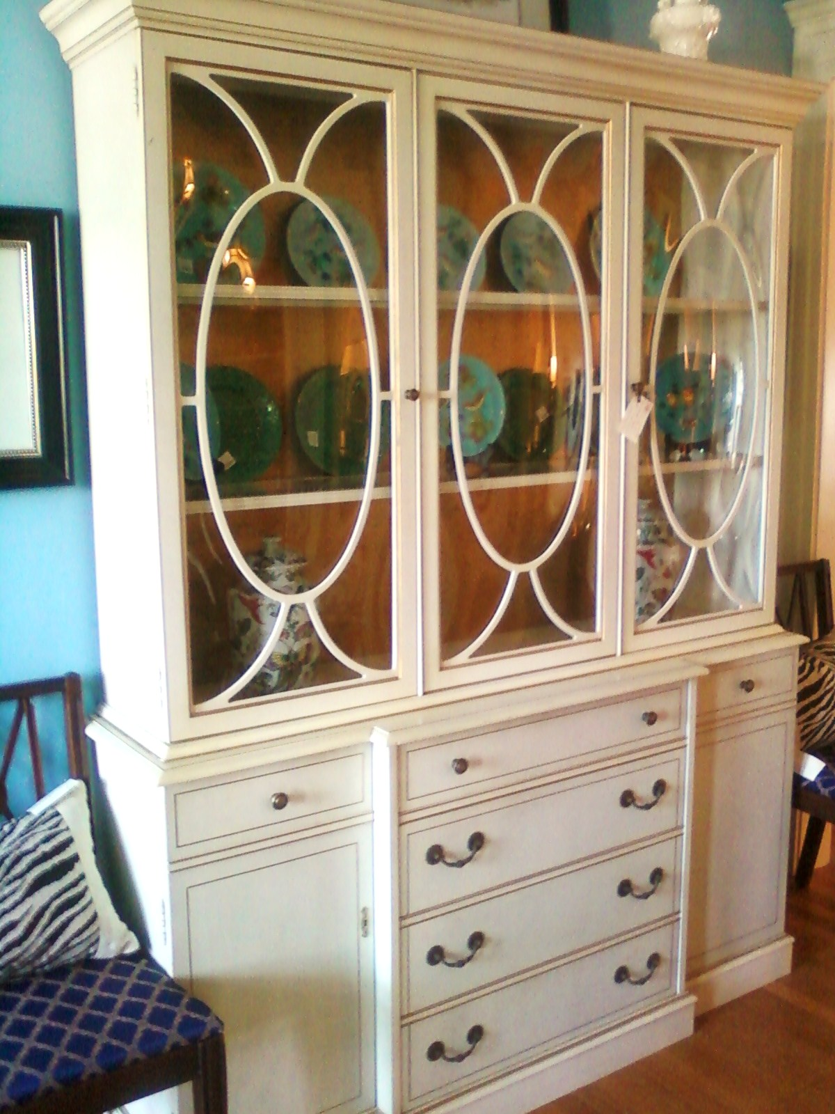 made custom french larrycrowder hand china crafted cabinet by white furniture antique