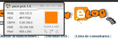 como saber los colores de un blog