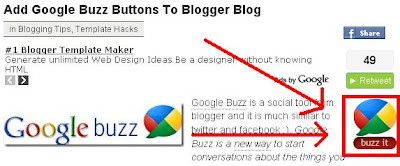 Google Buzz en Blogger