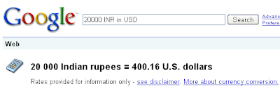 currency conversion in Google
