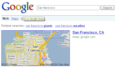 Find Places in Google Search