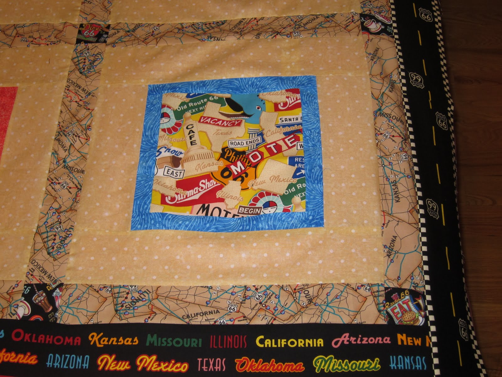 Jamies Quilting Blog: Route 66 quilt done!