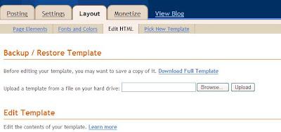hide navigation bar from blog