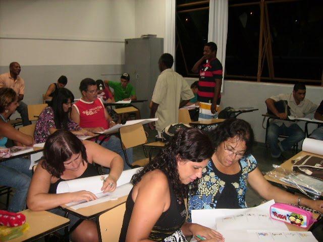 Os alunos bem interessados!!!