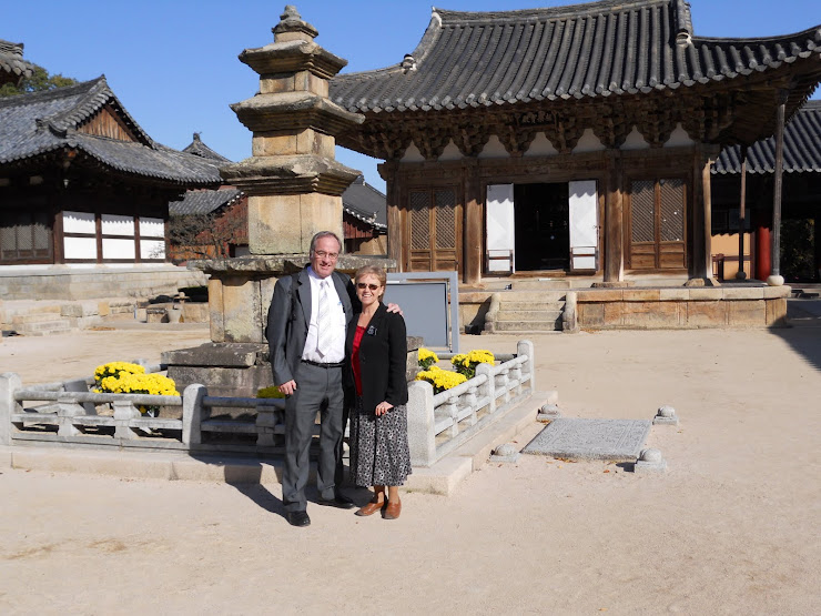 Visiting Unmunsa Buddhist site