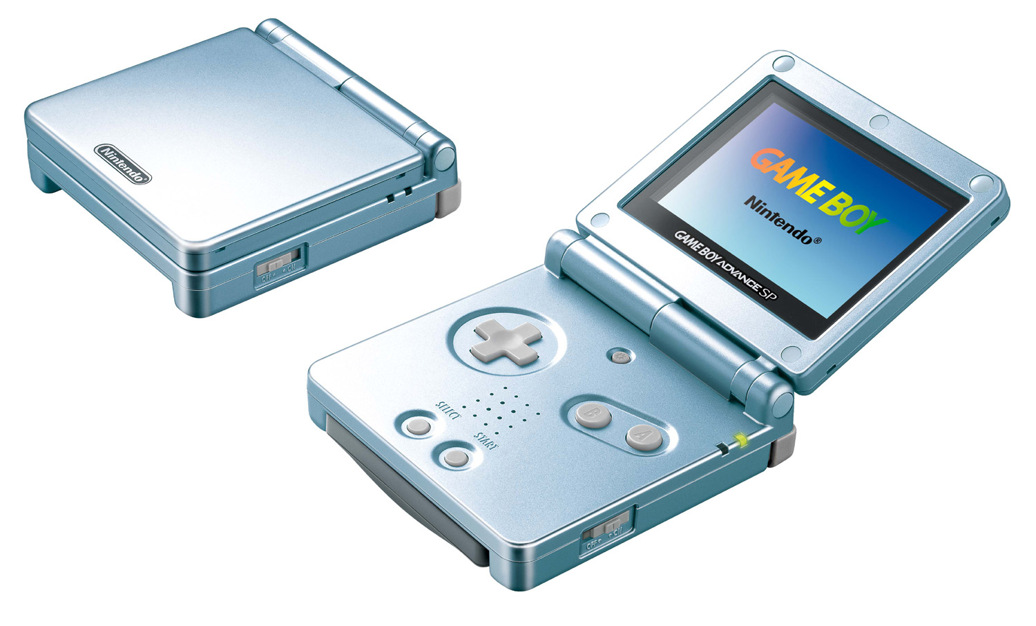Model terbaru dari Game Boy Advance, Game Boy Advance SP.