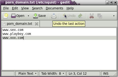 "gedit /etc/squid/porn_domain.txt"""