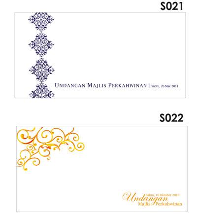Sampul kad kahwin bercetak adalah PERCUMA untuk kuantiti 500pcs ...