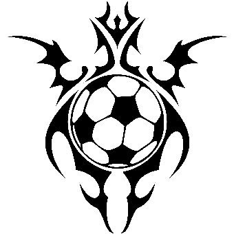 tribal art soccer ball glory design. Black Bedroom Furniture Sets. Home Design Ideas