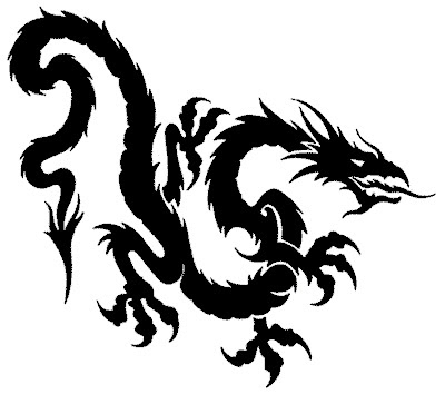 dragon tribal tattoos. tribal,tattoos,dragon tattoos