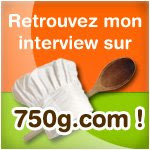 Mon interview sur 750g.com