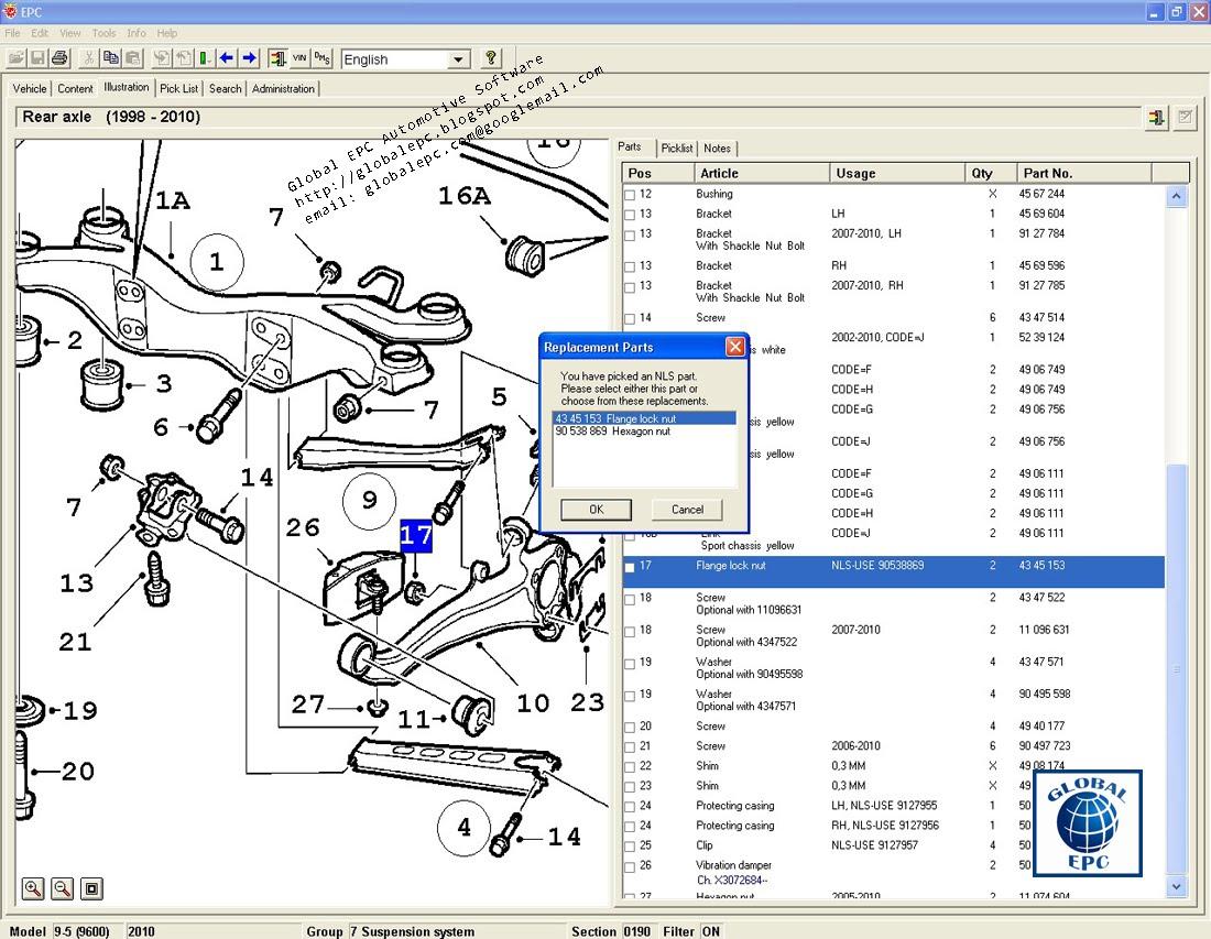 Global Epc Automotive Software  Saab Epc Electronic Parts