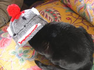 Blanche in monkey hat