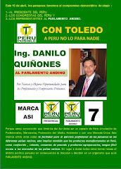 Para el Parlamento Andino...escribe el 7 de Danilo Quiñones
