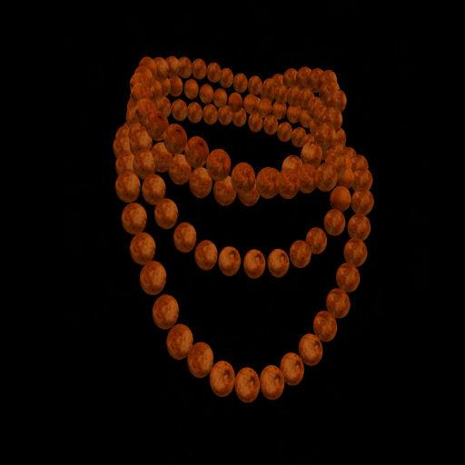 Orange Wood Wrapped Bead Necklace