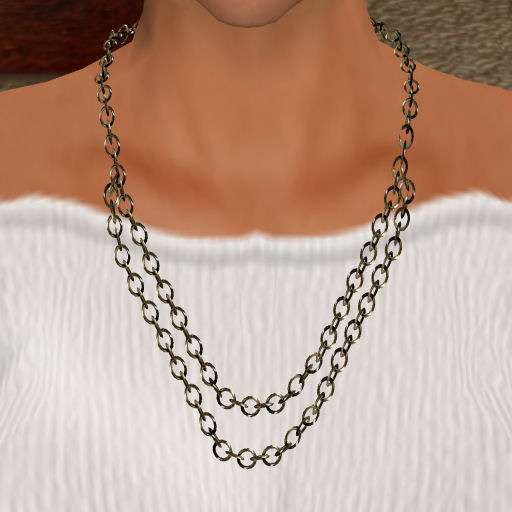 Double Platinum Link Necklace