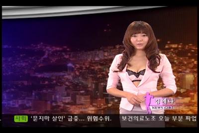 Naked News Korea Topless News Girl With Fake Boobs