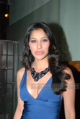 Model Actress Sophie Chaudhary hot in Blue Dress at Times Music launch of Sound of sophie